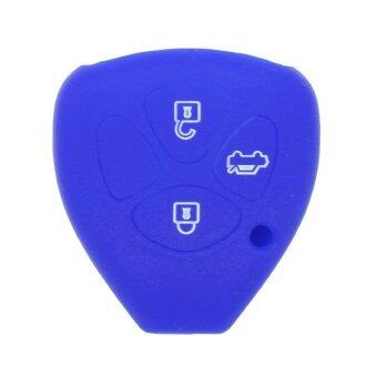 CV9402DB Silicone Cover Holder Fit for Toyota Remote Key (Deep Blue)