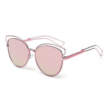 โอ้อ่อนสาวเรโทรวินเทจแฟชั่นแว่นตากรอบแว่นสายตาแมวใหม่สีชมพู
