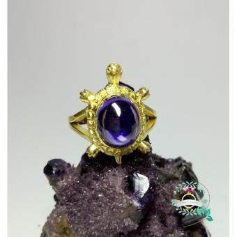 hindd แหวนเพชรพญานาคหรือมณีใต้น้ำทรงเต่า 5 สี