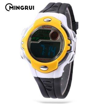 Harga MINGRUI MR - 8532033 Kids Digital Movt Watch LED Light Date Day Chronograph 3ATM Wristwatch (Yellow) - intl