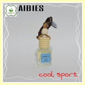 aibies [กลิ่นสปอร์ตสดชื่น] น้ำหอมรถอโรม่า ปลอดแอลกอฮอล์ ขนาด 4 mL