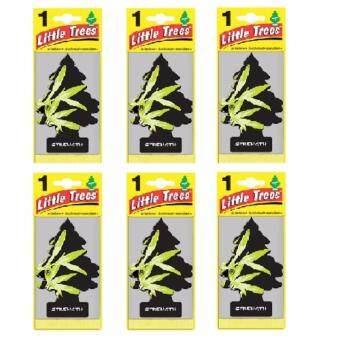 Little Trees® แผ่นน้ำหอมปรับอากาศ รูปต้นไม้ กลิ่น STRENGHT จำนวน 6 ชิ้น