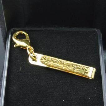 Pearl Jewelry แหนบห้อยพระ สแตนเลส ก้ามปู สีทอง No.15