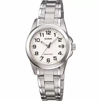 Casio Standard นาฬิกาข้อมือผู้หญิง Silver สายสแตนเลส รุ่น LTP-1215A-7B2DF