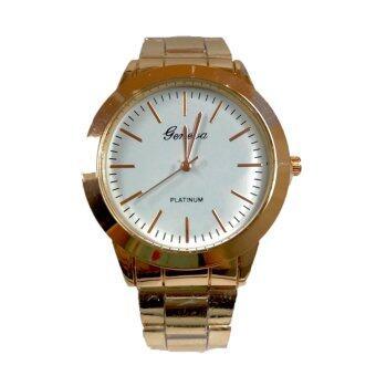 (New) Geneva Watch นาฬิกาข้อมือผู้ชาย สายเหล็ก ทอง เงิน rosegold รุ่น WM00103-106