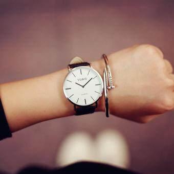 KPshop นาฬิกาผู้หญิงสายหนัง นาฬิกาข้อมือแฟชั่น นาฬิกาน่ารัก รุ่น LC-025 (สีดำ)