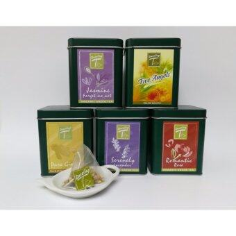 Dazzling-T ORGANIC Green Tea Pack of 5 กระป๋อง ( แถมฟรี 1x แบบถุง )