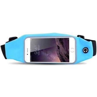 I-Gou กระเป๋าคาดเอว สำหรับใส่ออกกำลังกาย กันน้ำได้ หน้าจอ 5.5 นิ้ว (สีฟ้า)