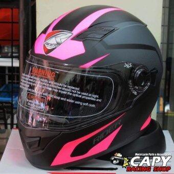 Rider helmet หมวกกันน็อค Rider Viper Exotic สีดำ-ชมพู Black Pink (Big Bike and motorcycle Helmet)