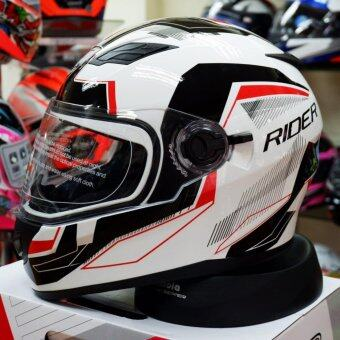 Rider หมวกกันน็อก หมวกกันน็อค หมวกกันน๊อก หมวกกันน๊อค Rider Viper Sharp White (Big Bike and motorcycle Helmet)