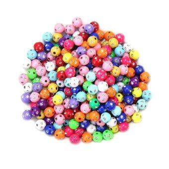 Harga 200 Pcs Assorted 8mm Round Plastic Spacer Loose Beads Jewelry Making DIY Craft - intl