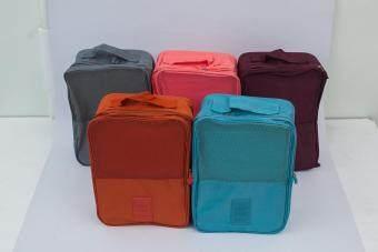 Mori กระเป๋าจัดระเบียบ กระเป๋าใส่รองเท้า ถุงใส่รองเท้า 3 คู่ Shoes Bag Shoes Organizer Bag Organizer (Grey / สีเทา) (image 2)