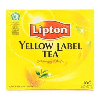 LIPTON ลิปตัน ชาผงชนิดซอง ฉลากสีเหลือง 2 กรัม x 100 ซอง