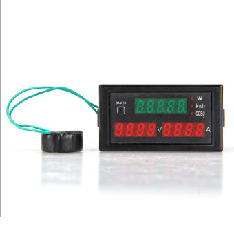 AC/AC ดิจิตอลมิเตอร์ไฟฟ้าวัตต์กระแสไฟแรงแรงดันไฟฟ้าแอมมิเตอร์โวลต์มิเตอร์