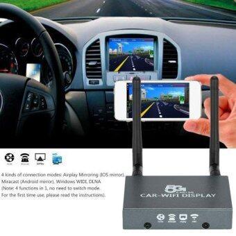 Car WiFi Display 5G/2.4G Miracast Airplay HDMI อุปกรณ์ส่งภาพและเสียงจากมือถือเข้าจอโทรทัศน์ติดรถยนต์ รุ่นสองเสา