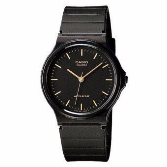 Casio Standard นาฬิกาผู้ชาย สีดำ สายเรซิ่น รุ่น MQ-24-1E