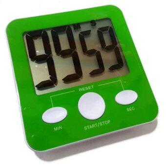 Stopwatch Fitness นาฬิกาจับเวลา ดิจิตอล เหมาะสำหรับออกกำลังกายนับเซท (สีเขียว)