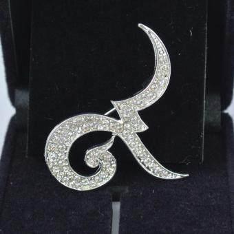 Pearl Jewelry เข็มกลัดไว้อาลัย เลข 9 เงิน-ทอง ชุด 4 ชิ้น A01