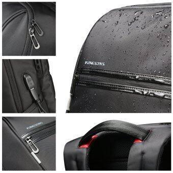 Kingsons 15.6 inches City Elite Bag Designer Laptop Backpack Water-Resistant Anti-Theft Laptop Rucksack with USB Charging Port Black (image 4)
