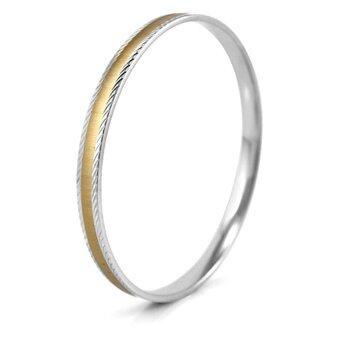 555jewelry กำไลข้อมือสำหรับสุภาพสตรี รุ่น MNC-BG071-B สี Steel