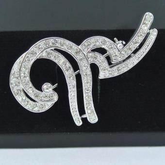 Pearl Jewelry เข็มกลัดไว้อาลัย 9 มหามงคล เพชรเงิน Premium