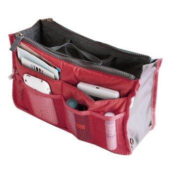 Jo.In Women Travel Insert Handbag Organizer Purse Large liner Organizer Tidy Bag Pouch (Red)