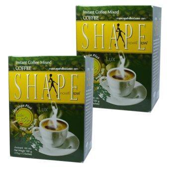 Coffee Shape คอฟฟี่เชฟ กาแฟผสมมะรุม พลัสมอลินก้า กาแฟลดน้ำหนัก เพื่อสุขภาพ หุ่นสวย สั่งได้ บรรจุ 12 ซอง (2 กล่อง)