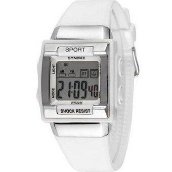 แฟชั่นนาฬิกาดิจิตอลธรรมดากีฬากีฬากลางแจ้งกันน้ำอเนกประสงค์นาฬิกาเด็กนาฬิกา 66188 (ขาว)