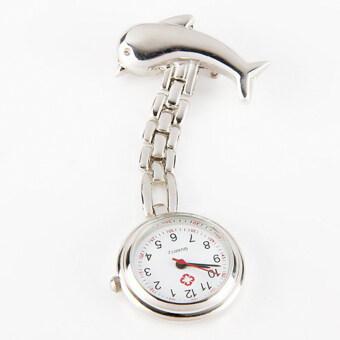 Gracefulvara ปลาโลมาผู้หญิงห้อยกระเป๋าพยาบาลจี้เข็มกลัดสายนาฬิกา (เงิน)