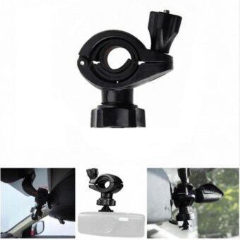 ขายึดกล้องติดรถยนต์ กับก้านกระจกมองหลัง ขาตั้ง กล้องบันทึกหน้ารถ หัวสไลด์ สีดำ (STAND CAR CAMERA)