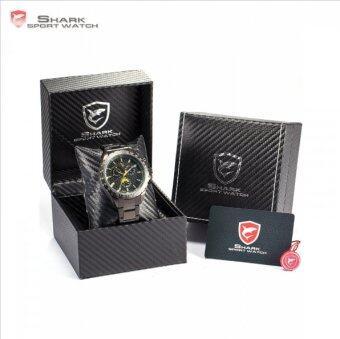 นาฬิกา Steel Frilled Shark Sport Watch Chronograph 24 Hours Black Yellow