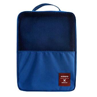 DUGADEE Waterproof Shoes Bag กระเป๋าใส่รองเท้ากันน้ำได้ กระเป๋าจัดระเบียบ กระเป๋าเดินทาง น้ำเงิน