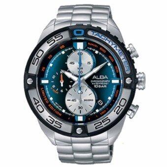 ALBA Chronograph Limited Edition นาฬิกาข้อมือผู้ชาย สีน้ำเงิน สายสแตนเลส รุ่น AV6067X1