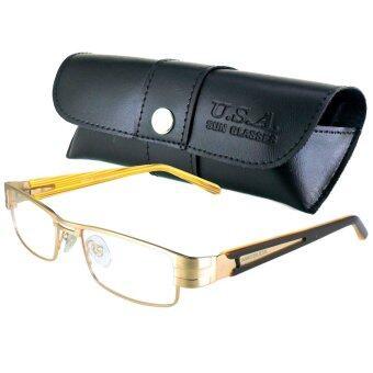 MATSUDA แว่นตา รุ่น M-004-M สีทอง กรอบเต็ม (ขาสปริง)