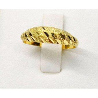 PGold แหวนทองโปร่งแกะลายครึ่งวง ทองคำแท้ 96.5% 1 กรัม เบอร์ 50