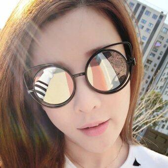 KPshop แว่นกันแดดผู้หญิง แว่นตาแฟชั่น แว่นกันแดดวินเทจ รุ่น LG-003