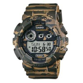 Casio G-Shock นาฬิกาข้อมือผู้ชาย สีเขียว สายเรซิ่น รุ่น GD-120CM-5DR
