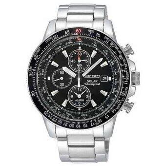 Seiko นาฬิกาข้อมือชาย Solar Chronograph Watch SSC009P1