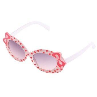 โอ้เด็ก ๆ เด็กแว่นกันแดดแฟชั่นแว่นตากันแดดแว่นตาพลาสติกทั้งคัน (ขาว)