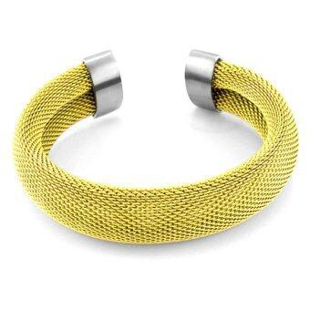 555jewelry กำไลข้อมือ รุ่น MNC-BG024-B (Yellow Gold)