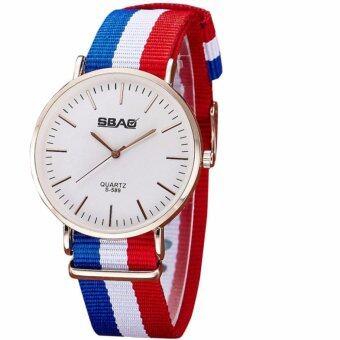 นาฬิกาข้อมือแฟชั่น 40 มม. กันน้ำ สายไนล่อน Fashion Quartz Watch