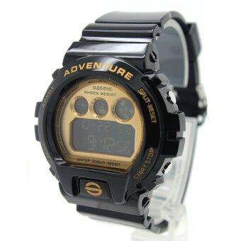 Submariner นาฬิกาข้อมือชาย-หญิง สายยางสีดำ Digital - SD0022 (B-Gold)