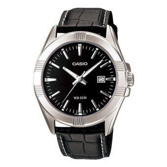 Casio Standard นาฬิกาข้อมือ รุ่น MTP-1308L-1A - สีดำ
