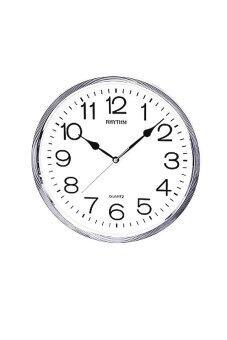 RHYTHM นาฬิกาแขวน รุ่น CMG734-NR19 (สีเงิน/ขาว)