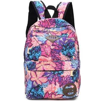 Harga Women's Casual Canvas Backpacks Girl Lady Student School Travel Bag (Rosepink)
