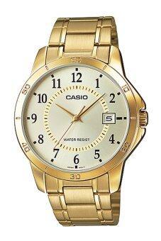 CASIO STANDARD นาฬิกาผู้ชาย สายสแตนเลส รุ่น MTP-V004G-9B
