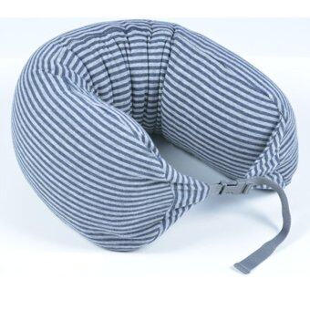 Harga MUJI Well fitted Neck Cushion U Shape Travel Neck Pillow Cushion Memory Foam Pillow Ergonomically Shaped Pillow and Seat Memory (Navy Grey Stripe) - intl