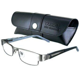 MATSUDA แว่นตา รุ่น M-004-M สีเงิน กรอบเต็ม (ขาสปริง)
