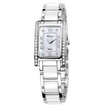 Kimio นาฬิกาข้อมือสุภาพสตรี สีขาว/เงิน สาย Alloy รุ่น KW510