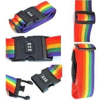 TravelGear24 สายรัดกระเป๋าเดินทาง 2อันพร้อมรหัสล็อก Travel Luggage Belt Suitcase Strap - (Black/สีดำ) (image 2)
